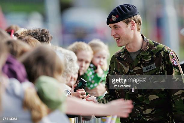 Prince William in his role as CommodoreinChief Scotland and Submarines meets Royal Naval personnel and their families during a visit to HM Naval Base...