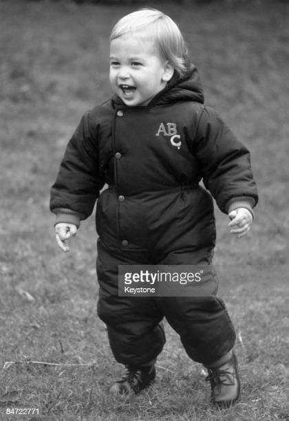 Prince William in the garden of Kensington Palace 14th December 1983