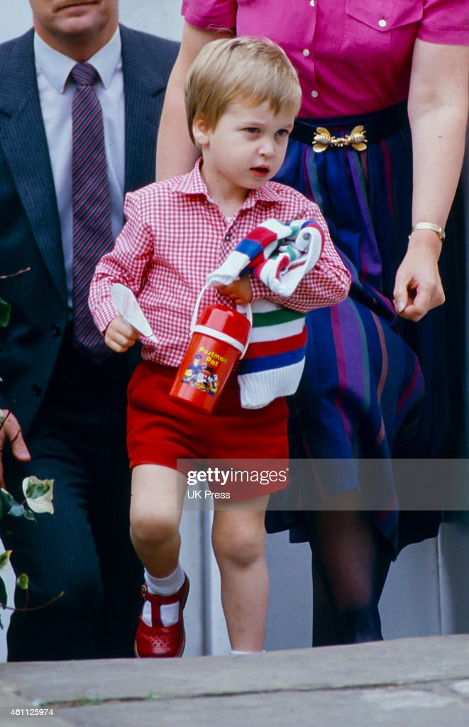 Prince William's  first day at Nursery School : News Photo