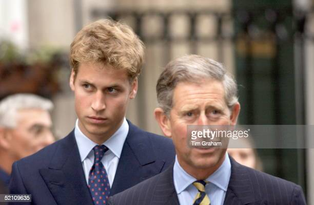 Prince William Looking Pensive As He Follows His Father Prince Charles On Their Visit To The Sighthill Community Education Centre In Glasgow Scotland