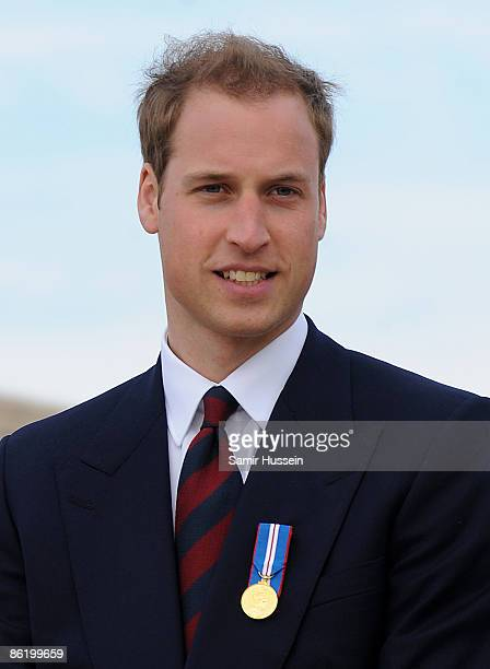 Prince William looks on as he visits at the National Memorial Arboretum to launch the NMA Future Foundations Appeal on April 24, 2009 near Lichfield,...