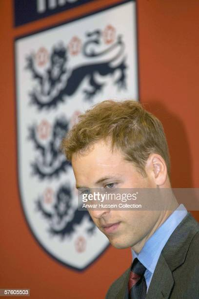 HRH Prince William looks thoughtful in the FA Club marquee before the FA Cup final between Liverpool and West Ham United at the Cardiff Millenium...