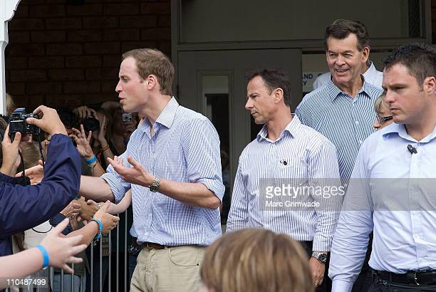 Prince William meets with locals at the 'Spirit of the Country' concert at the Toowoomba Showgrounds on March 20 2011 in Brisbane Australia His Royal...