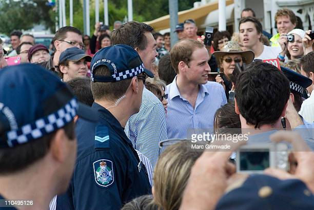 HRH Prince William meets with locals at the 'Spirit of the Country' concert at the Toowoomba Showgrounds on March 20 2011 in Brisbane Australia His...