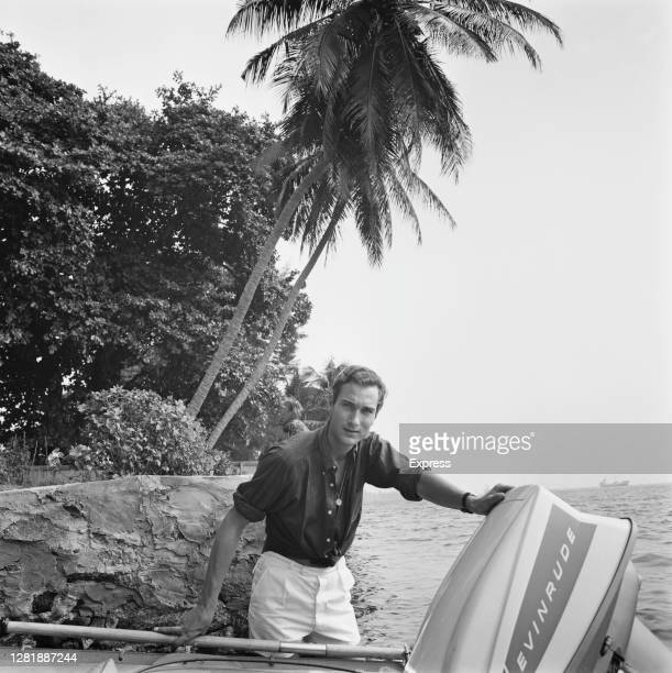Prince William of Gloucester with an Evinrude motor whilst sailing in Lagos, Nigeria, with Graham Hunter, 13th February 1966. Prince William has been...