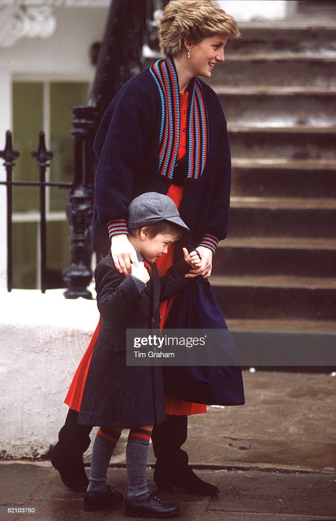 Prince William On His First Day At Wetherby School.