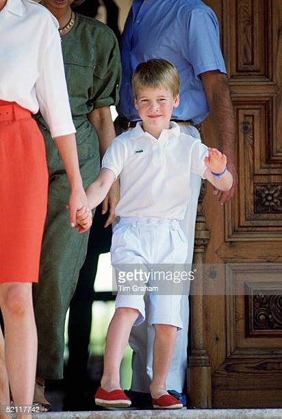 Prince William On Holiday At The Marivent Palace In Majorca, Spain