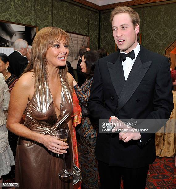 Prince William Patron of The Lord Mayor's Appeal 2008 meets television presenter Carol Vorderman at the Sporting Heroes dinner held at the Guildhall...