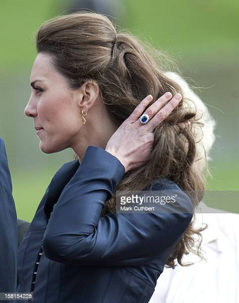 Prince William Patron Of The Queen Elizabeth Ii Fields Challenge Accompanied By Miss Catherine Middleton Visit Witton Country Park Darwen Lancashire...