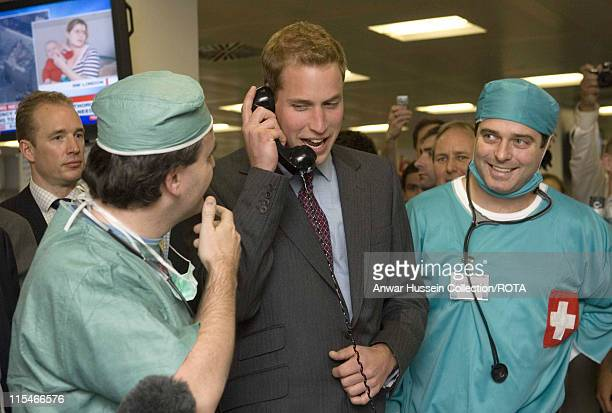 Prince William, patron of the Tusk Trust, visits the City inter-dealer broker firm ICAP on their charity day, when all revenues and commisions are...
