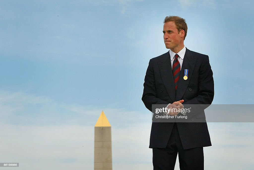 Prince William pauses for thought as he tours the National Memorial Arboretum where he launched an GBP 8 million appeal to make the Alrewas site a world famous centre for remembrance on April 24, 2009 in Lichfield, England. Prince William was officially made the patron of the Future Foundations Appeal. During the poignant visit he viewed the name of his Sandurst platoon commander Major Alexis Roberts of the 1st Battalion The Royal Gurkha Rifles, killed in Afgahanistan and Intelligence Officer Joanna Dyer who trained in his platoon and killed near Basra.