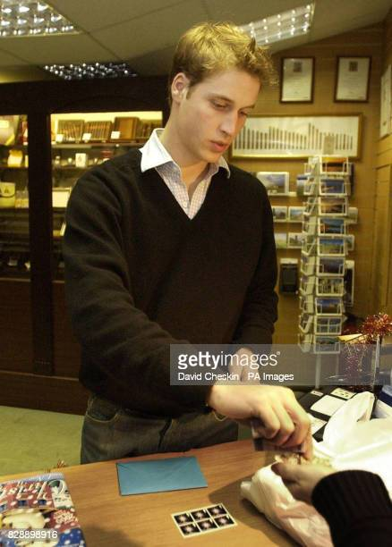 Prince William pays for his purchases in the Good News newsagents in St Andrews Now more than halfway through a fouryear degree at Scotland's oldest...