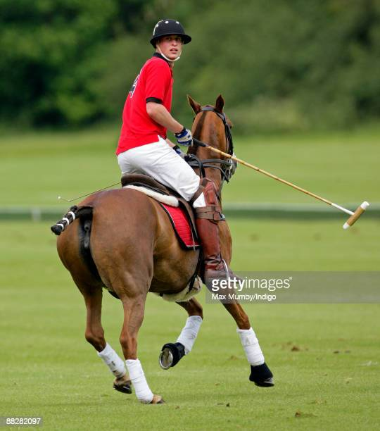 HRH Prince William plays in The Dorchester Trophy polo match at Cirencester Park Polo Club on June 7 2009 in Cirencester England