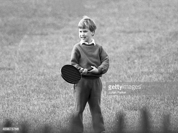 Prince William plays sports while at Wetherby School on September 30 1987 in London United Kingdom