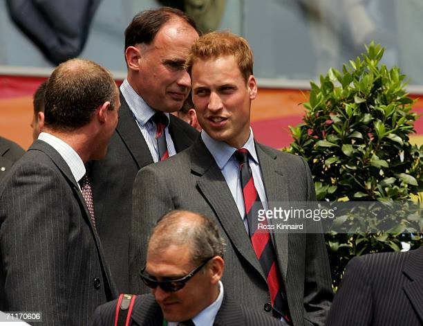 Prince William President of the FA attends Englands first FIFA World Cup Germany 2006 Group B match against Paraguay at the Stadium Frankfurt on June...