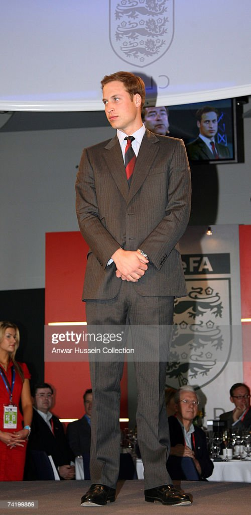Prince William, President of the Football Association, attends the FA Cup final between Chelsea FC and Manchester United FC at the new Wembley Stadium on May 19, 2007 in London, England.