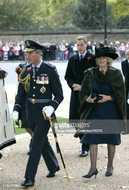Prince William Prince Charles Prince of Wales and Camilla Duchess of Cornwall attend the Dedication of the New Zealand memorial at Hyde Park Corner...