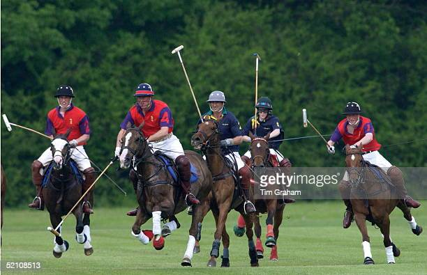 Prince William Prince Harry And Prince Charles Are Playing On The 'highgrove' Team For The Dorchester Polo Trophy To Raise Funds For The British...