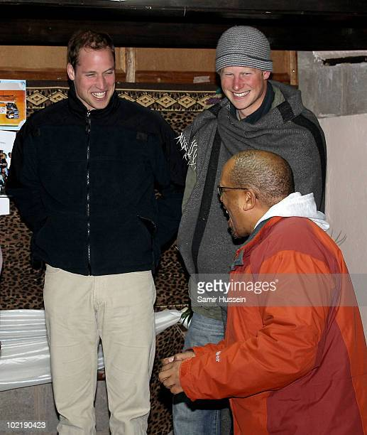 Prince William Prince Harry and Prince Seeiso visit the Herd Boy Night School on June 17 2010 in Semonkong Lesotho The Princes are on a joint trip to...