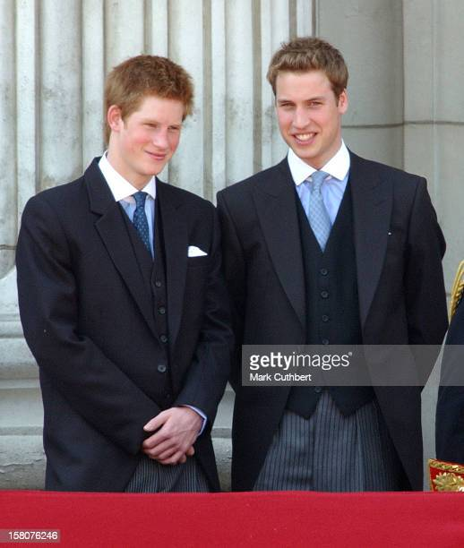 Prince William Prince Harry Attend The 2003 Trooping Of The Colour Ceremony
