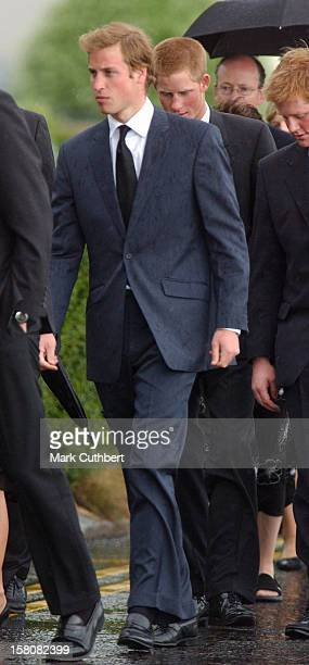 Prince William Prince Harry Attend The Funeral Of Frances Shand Kydd At St Columba'S Cathedral In Oban Scotland