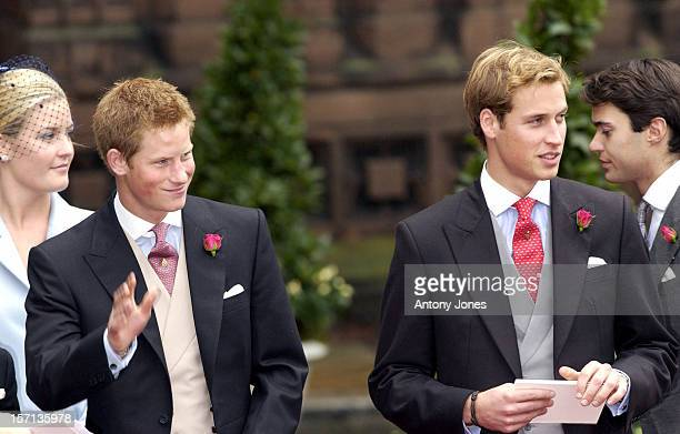 Prince William Prince Harry Attend The Wedding Of Lady Tamara Katherine Grosvenor Edward Van Cutsem At Chester Cathedral