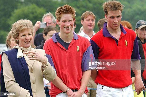 Prince William Prince Harry Play In The King Constantine Cup Polo Match At Cirencester Park Polo Club Accompanied By Queen Anne Marie Of Greece