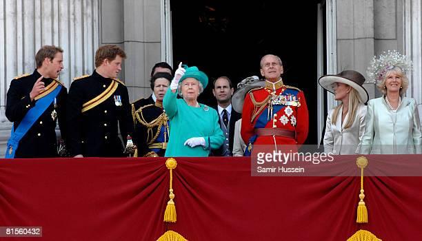 Prince William Prince Harry Princess Anne Princess Royal Queen Elizabeth II Prince Philip Duke of Edinburgh Autumn Kelly and Camilla Duchess of...