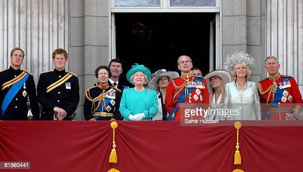 Prince William Prince Harry Princess Anne Princess Royal Queen Elizabeth II Sophie RhysJones Countess of Wessex Prince Philip Duke of Edinburgh...