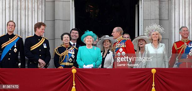 Prince William Prince Harry Princess Anne Princess Royal Timothy Laurence Queen Elizabeth II Sophie Countess of Wessex Prince Philip Duke of...