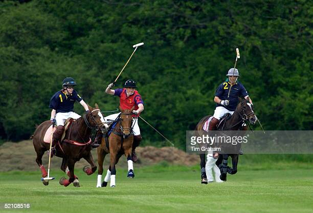 Prince William Riding His Pony With Great Determination While Playing On The highgrove Team For The Dorchester Polo Trophy To Raise Funds For The...