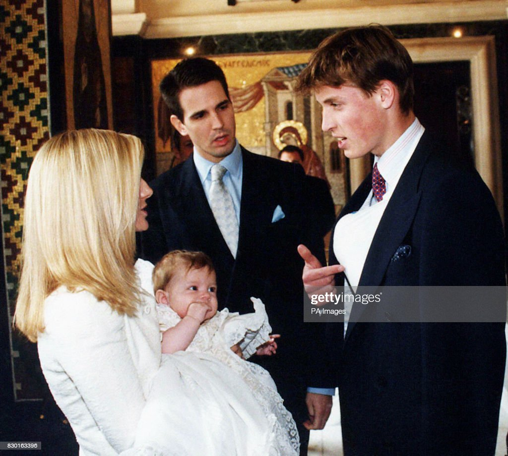 Royalty - Prince Konstantine Alexios Christening - St Sophia Greek Cathedral : News Photo
