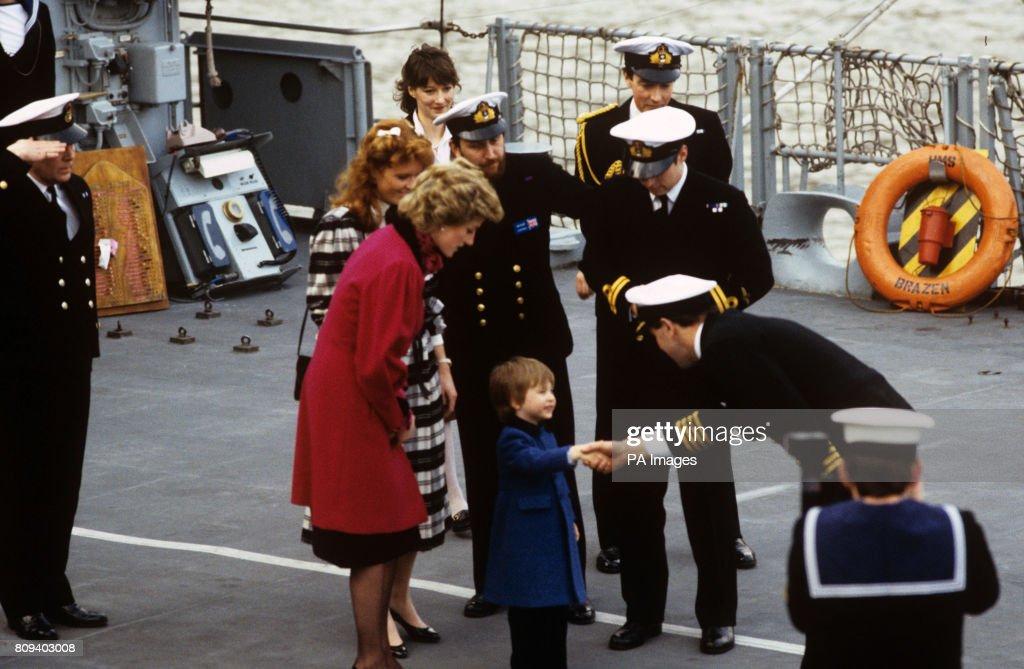 Royalty - Princess of Wales HMS Brazen Tour - London : News Photo