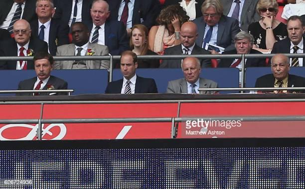 HRH Prince William sits alongside Arsenal majority shareholder Stan Kroenke Chairman of the FA Greg Dyke and Hull City owner Assem Allam