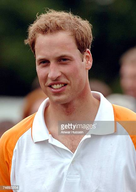 Prince William smiles as he plays a charity polo match for Apes Hill Club Barbados against Churchill Retirement Living for the Calcot Manor Hotel Cup...