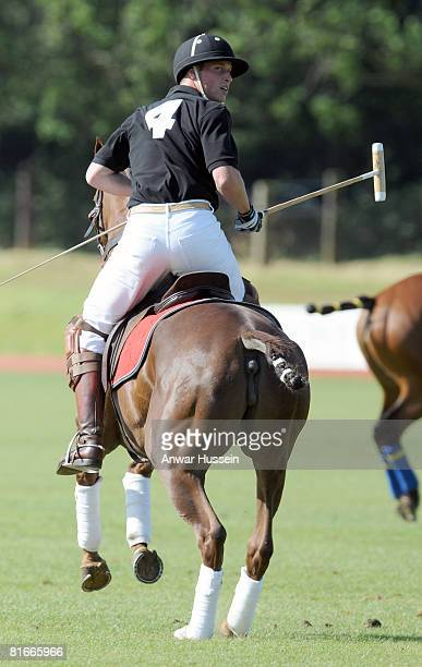 Prince William takes part in a charity polo match at the the Beaufort Polo Cub on June 22 2008 in Tetbury England