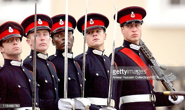 HRH Prince William takes part in the Sovereign's Parade at the Royal Military Academy Sandhurst on December 15 2006