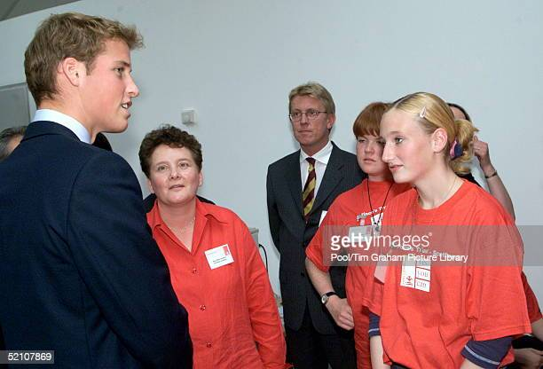 Prince William Talking To A Group Of Young People During His Visit To The Lighthouse In Glasgow Scotland This Project Is Funded By The Prince's Trust...