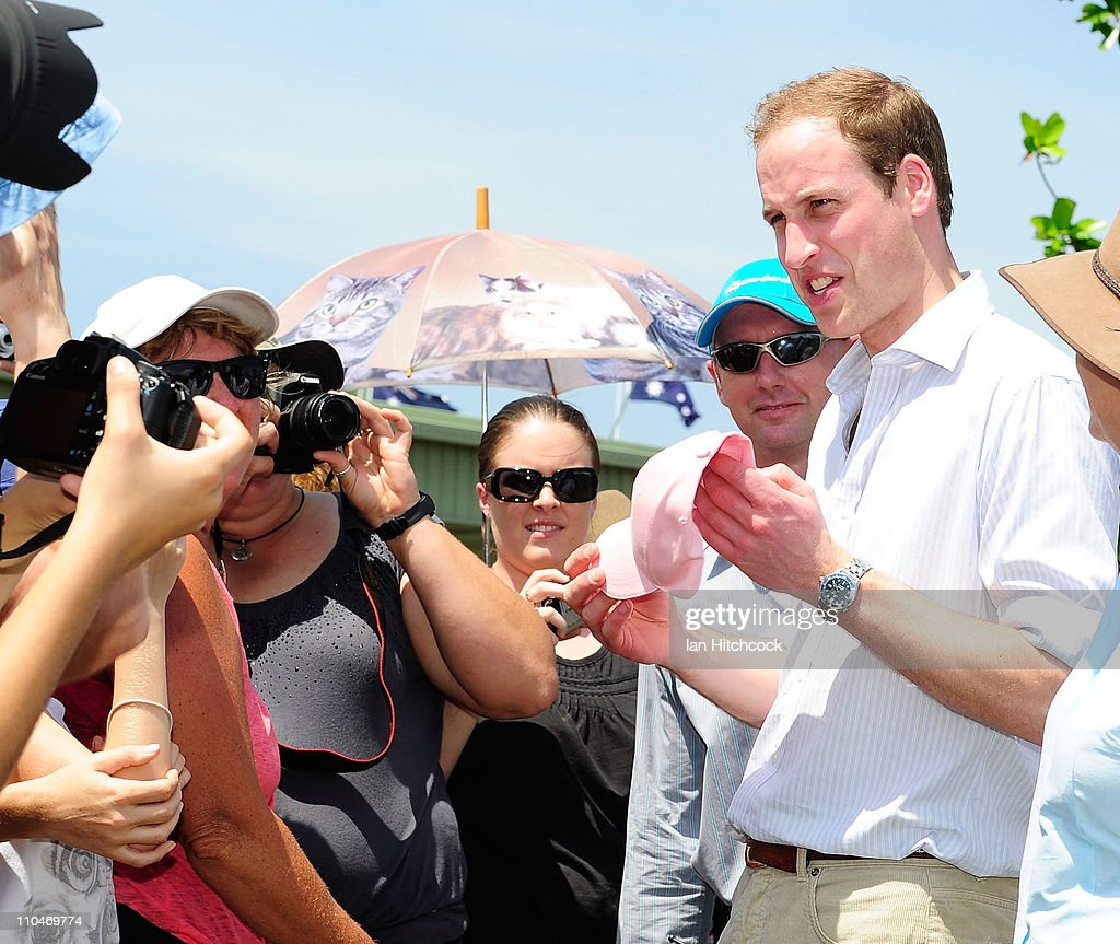 Prince William Talks To Members Of The Public At The Cardwell News Photo Getty Images