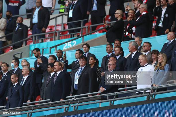 Prince William, The Duke of Cambridge and President of the Football Association, Peter McCormick, Interim Chairman of the Football Association, Boris...