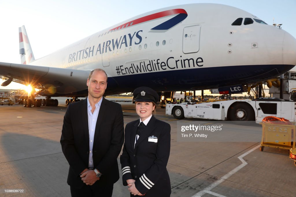 VIP Charity Flight Departs Heathrow On A Mission To End Wildlife Crime