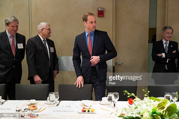 Prince William The Duke of Cambridge arrives for a luncheon after delivering a speech during an International Corruption Hunters Alliance event at...