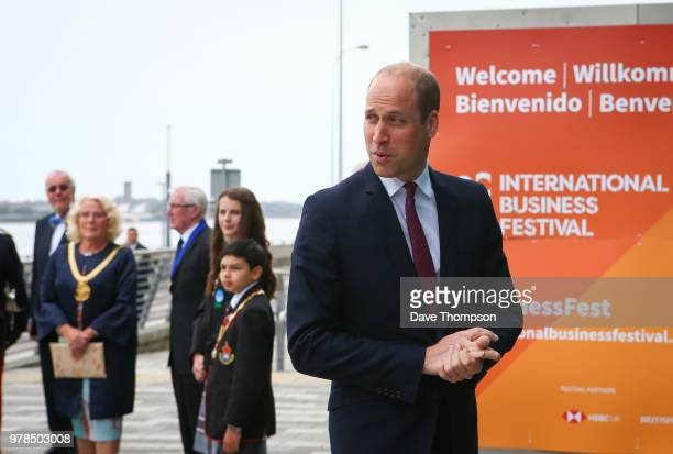 Prince William The Duke Of Cambridge arrives for the 2018 International Business Festival which takes place at the Liverpool Exhibition Centre on...