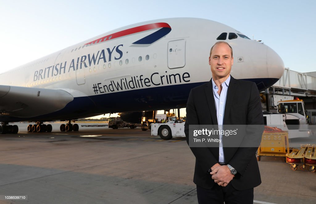 VIP Charity Flight Departs Heathrow On A Mission To End Wildlife Crime : News Photo