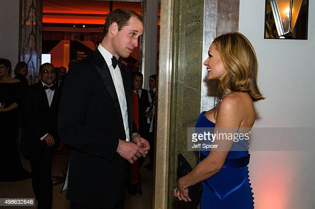Prince William The Duke of Cambridge Katherine Jenkins attend the annual Tusk Trust Conservation awards at Claridge's Hotel on November 24 2015 in...