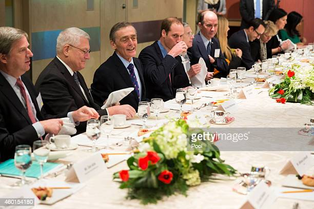 Prince William The Duke of Cambridge sits during a luncheon after delivering a speech during an International Corruption Hunters Alliance event at...