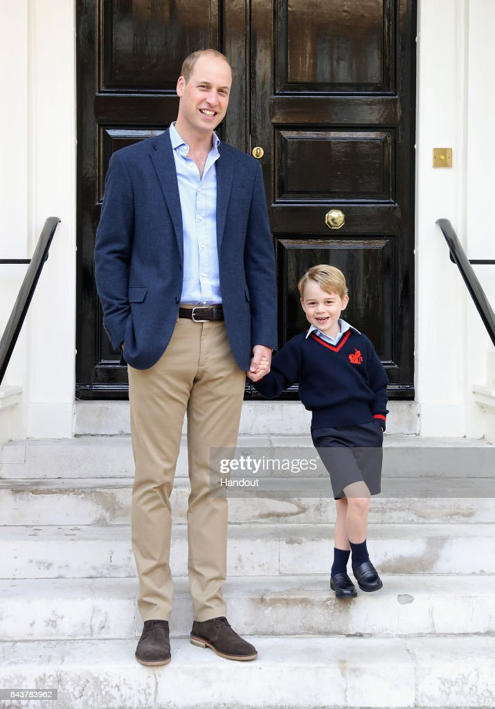 Prince George Attends Thomas's Battersea On His First Day At School : ニュース写真