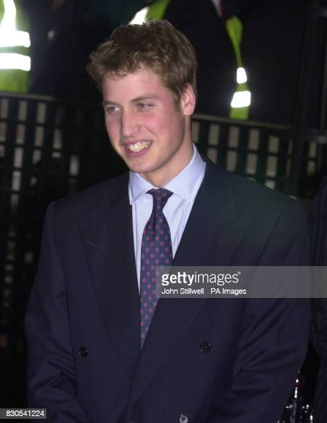 HRH Prince William the elder son of the Prince of Wales arrives for the tenth anniversary of the Press Complaints Commission at Somerset House in...