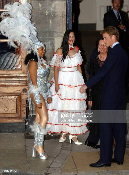Prince William the eldest son of the Prince of Wales meets dancers outside the Dance Base Studio in Edinburgh Prince William accompanied The Prince...