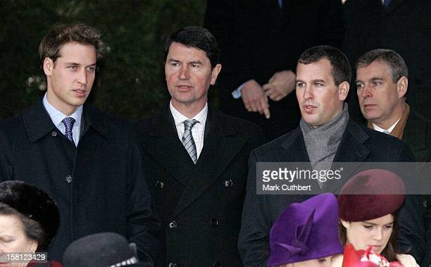 Prince William Tim Laurence Peter Phillips The Duke Of York Attend The Christmas Day Service At Sandringham Church
